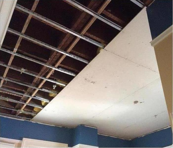 demoed office building ceiling