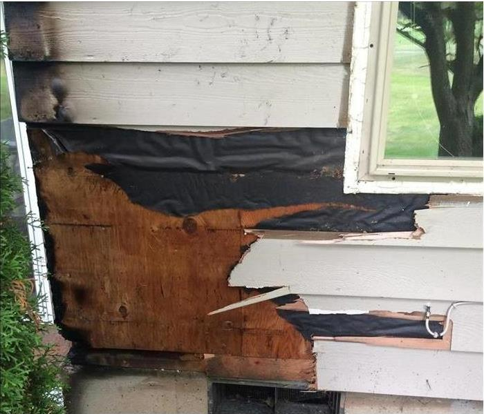 exterior siding damaged
